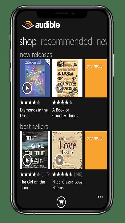 Audible book app sataware
