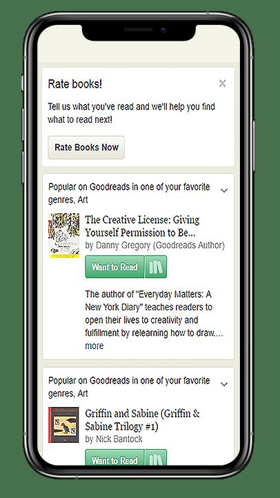 Goodreads book app