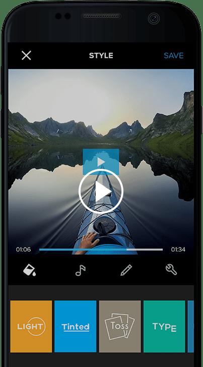 Video editor app- Quik
