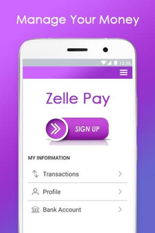 Pay with smartphone - Zelle