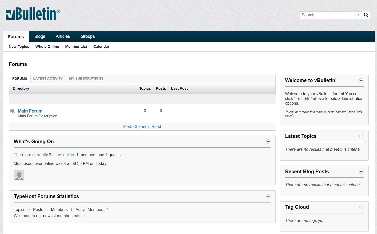 VBulletin - Content Management System