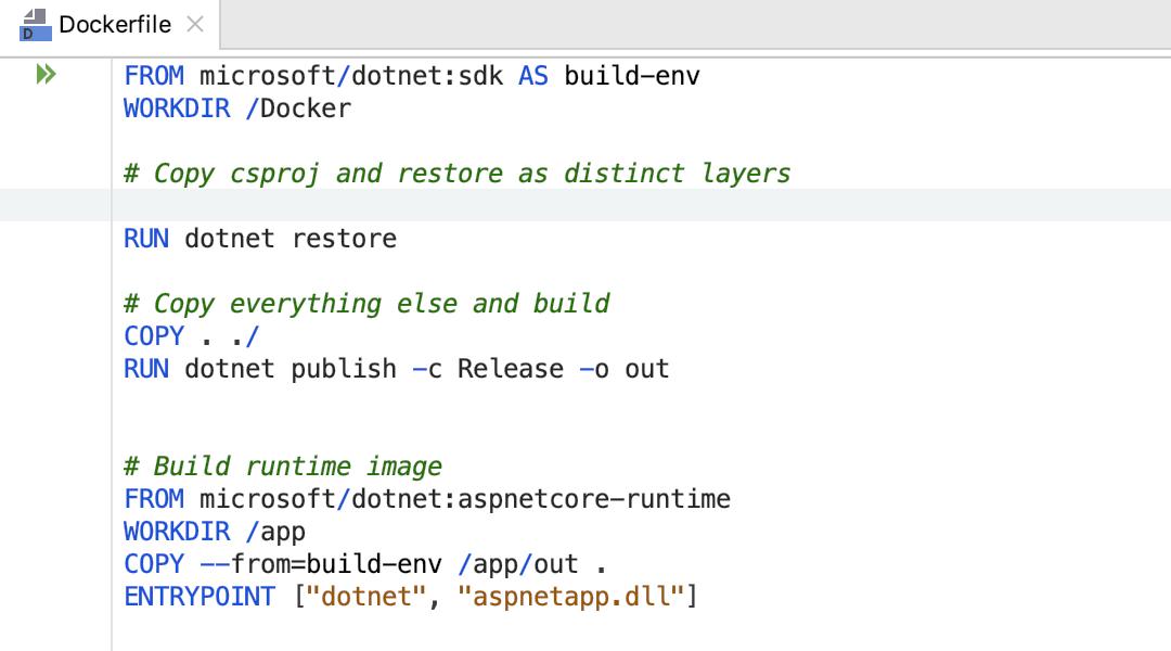 Syntax using Docker