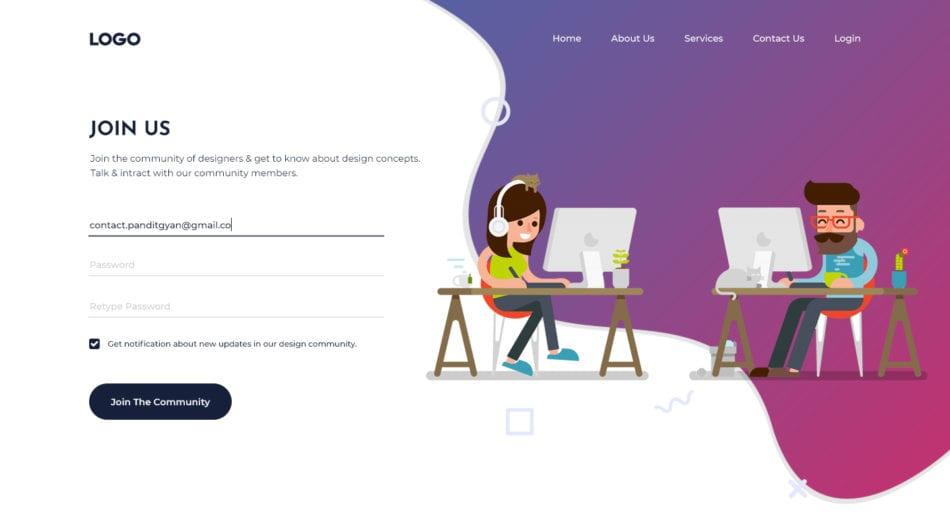 Website Design - Typography
