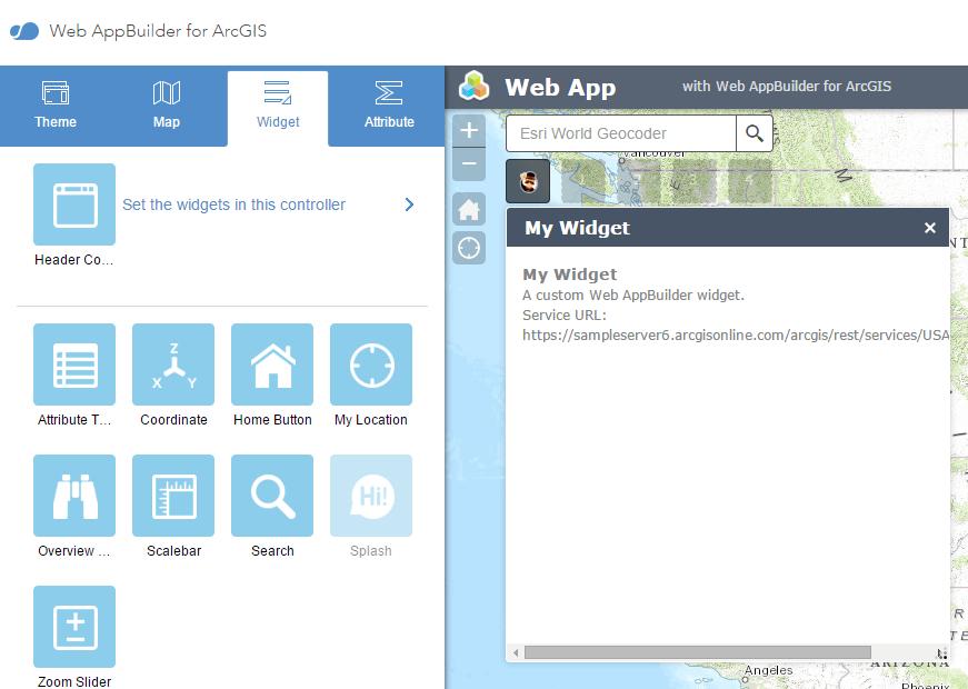 Web Application Architecture- Widget Web App