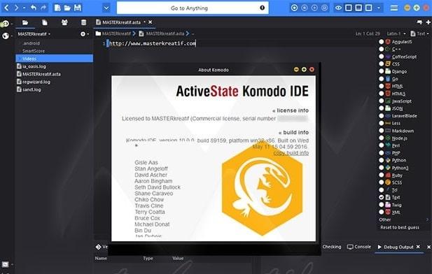 Web development - Komodo IDE