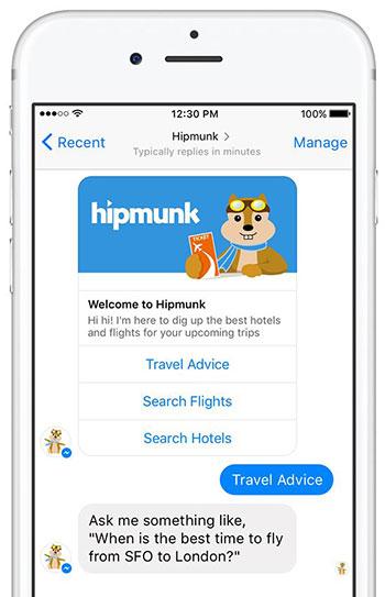 chatbots - Hello hipmunk