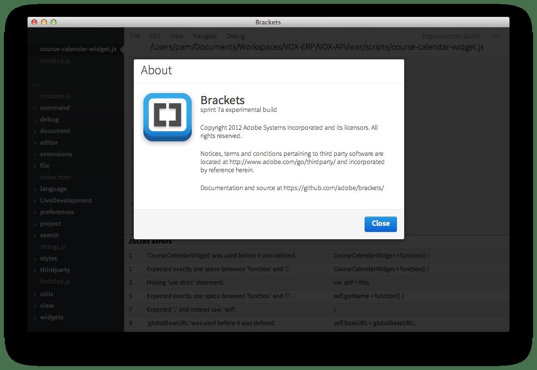 web development - Brackets IDE