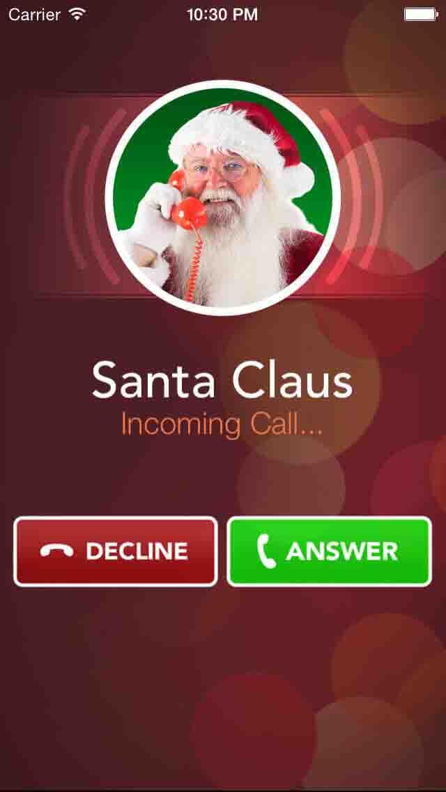 A call from Santa App
