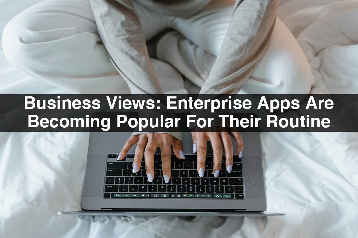 Business Views: Enterprise Apps Are Becoming Popular For Their Routine